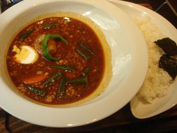 納豆とオクラのスープカレー 100番 大盛り